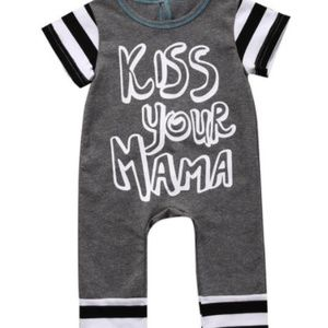 """Other - Baby boutique romper """"kiss your mama"""" 3, 6 mo."""